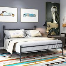 VECELO Platform Bed Frame Metal Bed with Headboard and Footboard