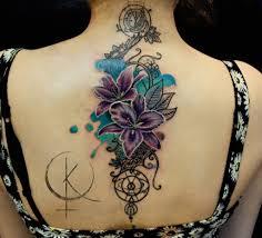 татуировка на спине идеальный вариант для масштабных эскизов тату