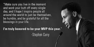 Stephen Curry: A true MVP, on and off the court. | quotes ... via Relatably.com