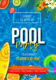It's colourful pool party image. 850 Pool Party Customizable Design Templates Postermywall