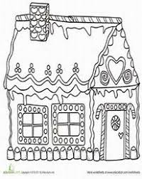 Small Picture colouring page Gingerbread house Holidays Pinterest