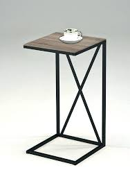 side tables round metal bedside table and glass side bronze bars black wire round