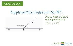 Angl Es Find Angle Measurements Using Complementary And Supplementary Angles