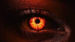 Desktop wallpaper fire, glow in eye ...