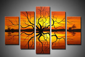 framed wall art 5 piece handmade african abstract paintings on canvas in painting calligraphy from home garden on aliexpress com alibaba group