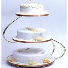 s shape 3 tier gold wedding cake stand
