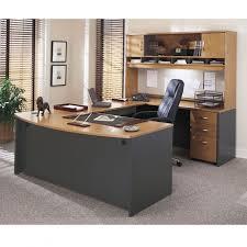 bush executive desk series c corsa u shaped natural cherry ships free for popular house u shaped desks plan