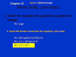 chapter 12 section 3 what is energy math skills continued 2 write the