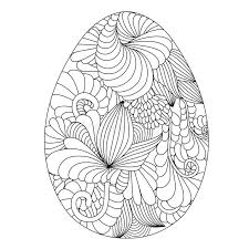 hand drawn ornamental easter eggs for coloring book for an stock vector ilration