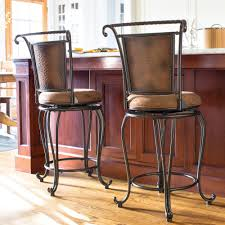 Rustic Counter Stools Kitchen Comfortable And Supportive These Padded Wrought Iron Counter