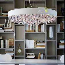 modern multi color crystal and metal chandelier 8498