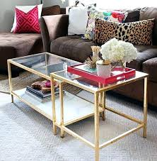 round glass nesting coffee tables stacking table modern clear glass nesting coffee