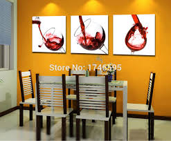 big 3pcs modern home decor red wine glass wall art picture dining room bar coffee house wall art decor canvas print oil painting in painting calligraphy  on wall art sets for dining room with big 3pcs modern home decor red wine glass wall art picture dining