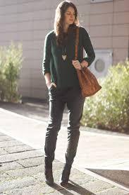 mango sweater pull bear leather baggy pants zign shoes via zalando vintage mcm bag via lxr co oasa tiger necklace