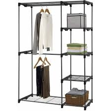 closet shelves organizer storage rack portable five tier wardrobe garment hanger