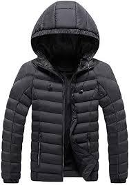 Willow S Men's <b>Winter Warm Cotton Coat</b> Casual Geometric Fluffy ...