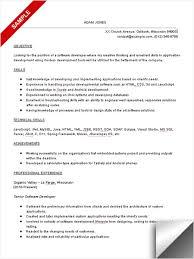 sample software developer resume