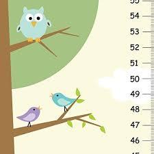 Amazon Com Nature Owl Canvas Children Growth Chart