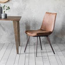 gallery hinks brown faux leather dining chair 2 pack