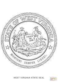 Small Picture West Virginia State Seal coloring page Free Printable Coloring Pages