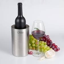 wine cooler bucket stainless steel double walled iceless wine bottle chiller keeps wine and