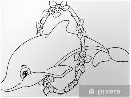Poster Delfini Da Colorare Pixers Viviamo Per Il Cambiamento