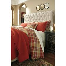 display gallery item 6 danail king duvet cover set in red gold green by ashley furniture display gallery item 7