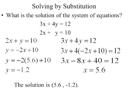 2 solving by substitution what