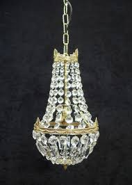 french empire style cut crystal glass basket chandelier