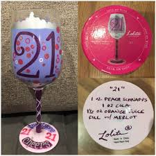 21st birthday wine glass brand new