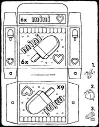 Winkelverpakking Mini Ijsjes Kiddicolour With Ijsjes Kleurplaat