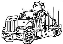 logging coloring pages log trucks tractors trucks and diggers logging truck coloring page