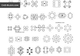 Dining Tables Cad Blocks Free Download