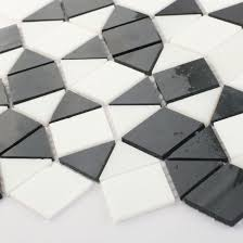 black and white kitchen bathroom tile stained glass mosaic sheets
