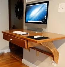 computer desktop furniture. Wooden Wall Mounted Computer Desk Diy With Imac And Keyboard On It Desktop Furniture