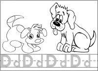 Letter D Dog