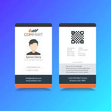 company id card templates professional company modern id card template vector premium download