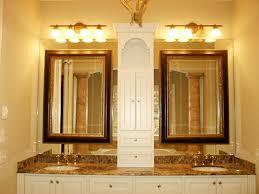 bahtroom impressive wall lamp above long mirror closed amusing stunning custom bathroom frames enhancing personalized room bathroom vanity lighting remodel custom