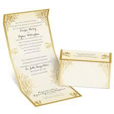 Wedding Invitatiins Ferns Of Gold Seal And Send Invitation Anns Bridal Bargains