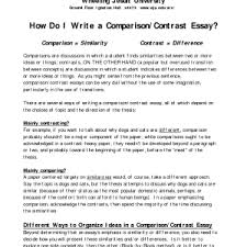 example comparison and contrast essay surprising write and essay template college example comparison and contrast essay compare and contrast examples