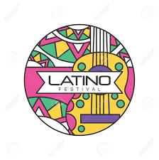 Latino Graphic Designers Creative Round Shaped Icon For Latino Festival Music Folk Celebration