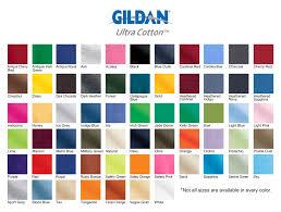 Gildan G8000 Color Chart Gildan T Shirt Color Palette Dreamworks