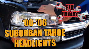 2006 Chevy Silverado Bulb Chart Suburban Tahoe Head Light Bulb Change 2000 2006 Gmc Chevrolet