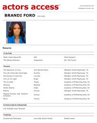 Resume Examples For Actors Resume For Actors 21 Examples Of Actors Resumes Suiteblounge Com