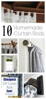 Curtain Rod Alternatives Best 20 Homemade Curtain Rods Ideas On Pinterest Cheap Wooden