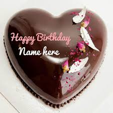 Happy Birthday Cakes With Name Molten Chocolate Heart Birthday Cake