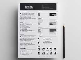 Free Minimal Designer Resume In Illustrator Format Impressive Illustrator Resume