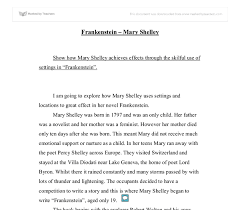 frankenstein essays frankenstein essay how does shelley present  frankenstein essays frankenstein essay how does shelley present the creature between com