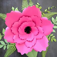Flower Templates For Paper Flowers Giant Anemone Paper Flower Template With Poppy Center