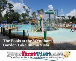 the pools at the wyndham and wyndham garden lake buena vista